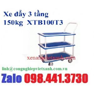 Xe đẩy 3 tầng 150kg  XTB100T3
