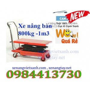 Xe nâng mặt bàn cao 1.3 mét 800kg TT800/1.3M