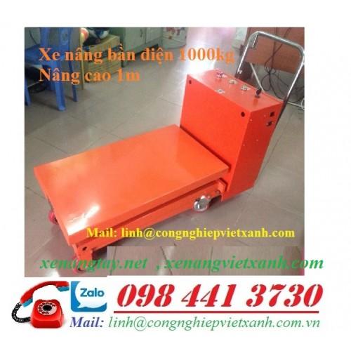 Xe nâng bàn điện 1000kg cao 1m WP1000D Niuli