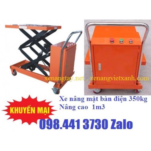 Xe nâng bàn điện 350kg cao 1m5 WP350D