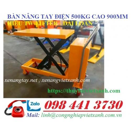Xe nâng bàn điện 500kg cao 900mm WP500D Niuli