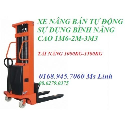 Xe nâng điện bán tự động 1,0 tấn BTD1016