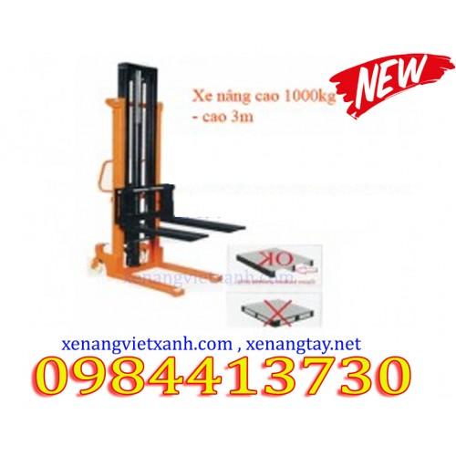 Xe nâng tay cao 3 mét 1000kg NC1030
