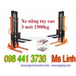 Xe nâng tay cao 3 mét 1500kg NC1530
