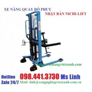 Xe nâng cao quay đổ phuy 350kg cao 1m4 hiệu NICHI-LIFT
