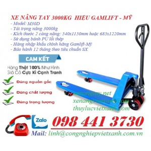 Xe nâng tay 3000kg Gamlift-mỹ