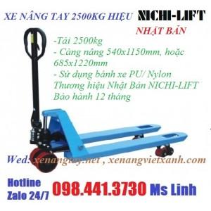 Xe nâng tay 2500kg nhật bản NICHI-LIFT
