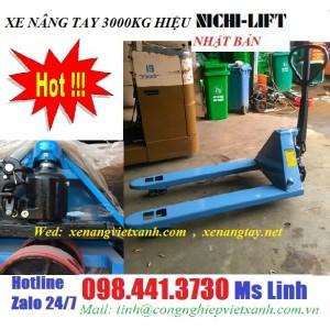 Xe nâng tay 3000kg nhật bản NICHI-LIFT