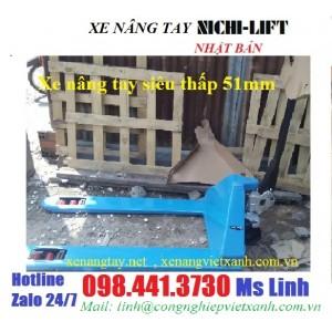 Xe nâng tay siêu thấp 51mm nhật bản NICHI-LIFT