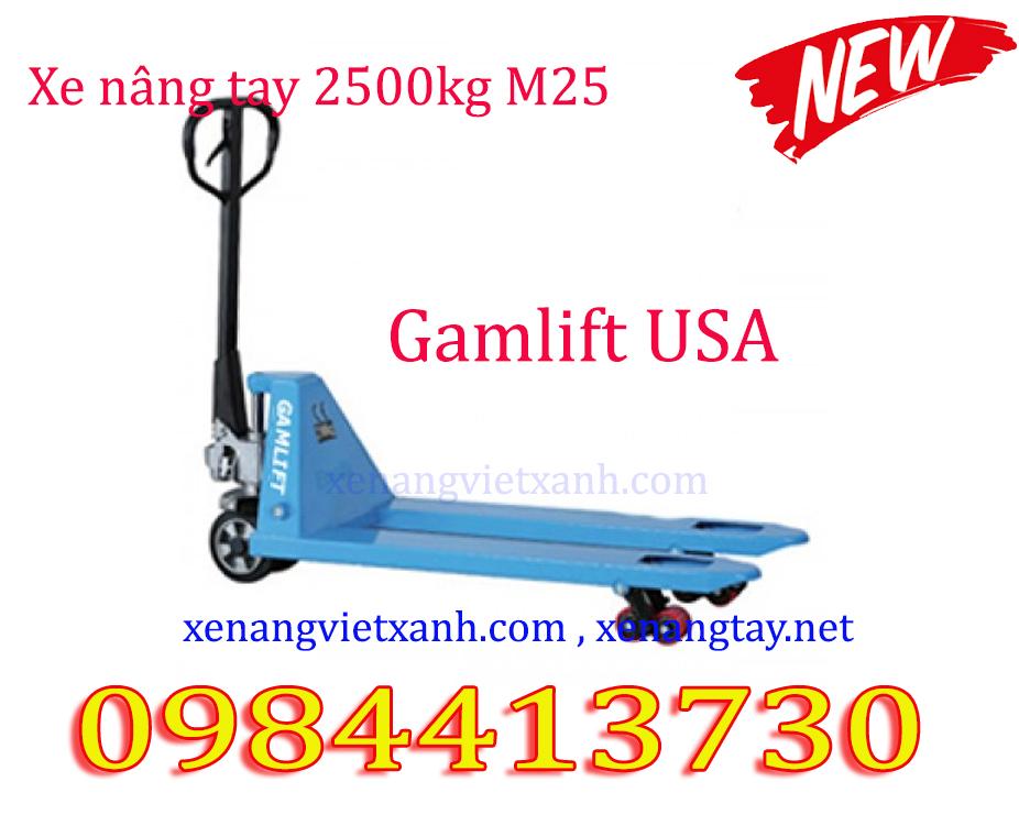 Xe nâng tay 2500kg  3000kg Gamlift USA giá cực sốc