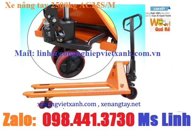 www.123nhanh.com: Xe nâng tay 2500kg Niuli